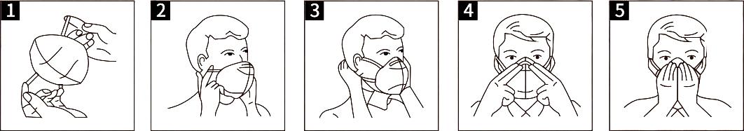 Anwendung der FFP2-Atemschutzmaske