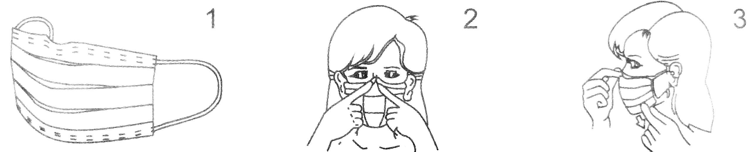 Verwendung der Gesichtsmaske